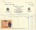 Receipt from Peal and Co. to Robert Goelet by Peal and Co.