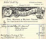 Invoice from Sandon & Co. to Robert Goelet by Sandon & Co.