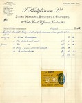 Receipt from T. Hodgkinson to Robert Goelet by T. Hodgkinson