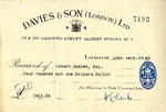 Receipt from Davies & Son to Robert Goelet by Davies & Son