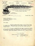 Letter from Hudson Forwarding & Shipping Co. to M. Stansfield