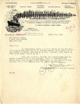 Letter from Hudson Forwarding & Shipping Co. to Robert Goelet by Hudson Forwarding & Shipping Co.