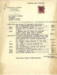 Invoice from Adolfo Loewi to Mr. Robert Goelet by Adolfo Loewi