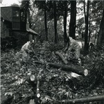 Workers during cleanup outside the Gatehouse