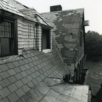 McAuley Hall roof after Hurricane Bob