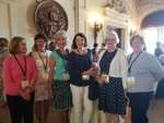 JoAnne Galvin Sheehan '68 and friends at Ochre Court