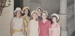 Seniors Mary Ellen Woods, Kathy Reardon, Marian Mathison, Gisela Chandek, Jane Brodie, Joanie Burke
