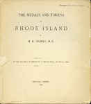The Medals and Tokens of Rhode Island by H R. Storer