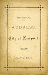 Historical Address of the City of Newport delivered July 4, 1876