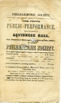 Philharmonic Society., The Fifth Public Performance, March 20, 1857 by Philharmonic Society