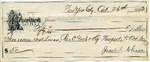 Receipt from Jacob C. Chase to Richard M. Hunt