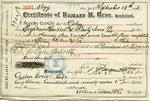 Receipt of payment by Ogden Goelet to Ellin, Kitson & Co, contractor for Richard M. Hunt