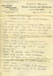 Memorandum from Joseph Mayer to Ogden Goelet