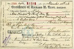 Receipt of payment by Ogden Goelet to C. Everett Clark, contractor for Richard M. Hunt