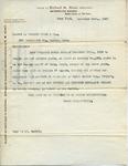 Contract between Richard M. Hunt and C. Everett Clark & Co.