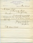 Letter from C. Everett Clark to Ogden Goelet describing Receipt of payment by Ogden Goelet to C. Everett Clark