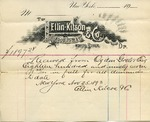 Receipt of payment by Ogden Goelet to Ellin, Kitson & Co.