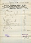 Receipt from Barker Brothers to Ogden Goelet for work performed November 1893