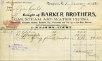 Receipt from Barker Brothers to Ogden Goelet