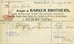Receipt from Barker Brothers to Ogden Goelet