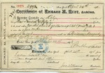 Receipt from Richard M. Hunt to Ogden Goelet