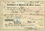 Receipt from Richard M. Hunt to Ogden Goelet