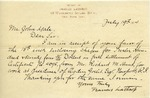 Letter from Francis Lathrop to John Yale