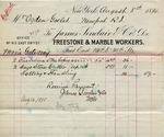 Receipt from James Sinclair & Co. to Ogden Goelet