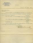 Letter from Wm. H. Jackson & Co to Ogden Goelet