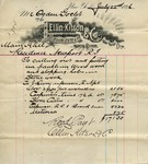 Receipt from Ellin, Kitson & Co. to Ogden Goelet