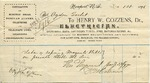 Receipt from Henry W. Cozzens to Ogden Goelet