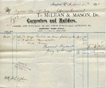 Receipt from McLean & Mason to Ogden Goelet