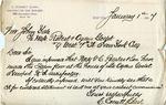 Letter from C. Everett Clark to John Yale by C. Everett Clark