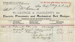 Receipt from George A. Haggerty to P. McCormick