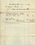 Receipt from Peter McCormick to Ogden Goelet