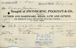 Receipt from Swinburne, Peckham & Co. to Ogden Goelet