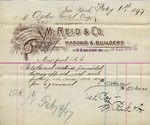 Receipt from M. Reid & Co to Ogden Goelet