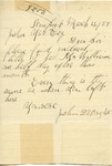 Letter from John D. Wright to John Yale by John D. Wright