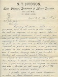 Letter from N.T. Hodson to John Yale