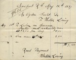 Receipt from Walter Loring to Ogden Goelet