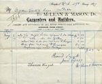 Receipt from McLean & Mason to Ogden Goelet