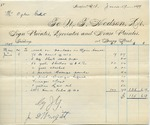 Invoice from N.T. Hodson to Ogden Goelet, May 24 to June 8
