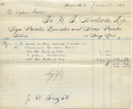 Invoice from N.T. Hodson to Ogden Goelet, May 10 to 13