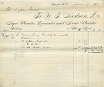 Invoice from N.T. Hodson to Ogden Goelet, May 24 to 28