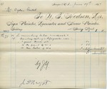 Invoice from N.T. Hodson to Ogden Goelet, May 24 to 29, $6.93