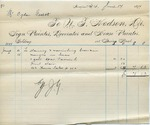 Invoice from N.T. Hodson to Ogden Goelet, June 10 to 15