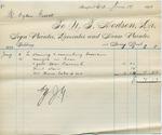 Invoice from N.T. Hodson to Ogden Goelet, June 10 to 15
