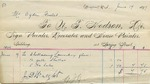 Invoice from N.T. Hodson to Ogden Goelet, June 9