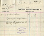 Receipt from Newport Illuminating Co. to Ogden Goelet
