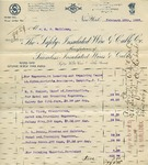 Receipt from The Safety Illuminated Wire & Cable Co. to C. O. Mailloux